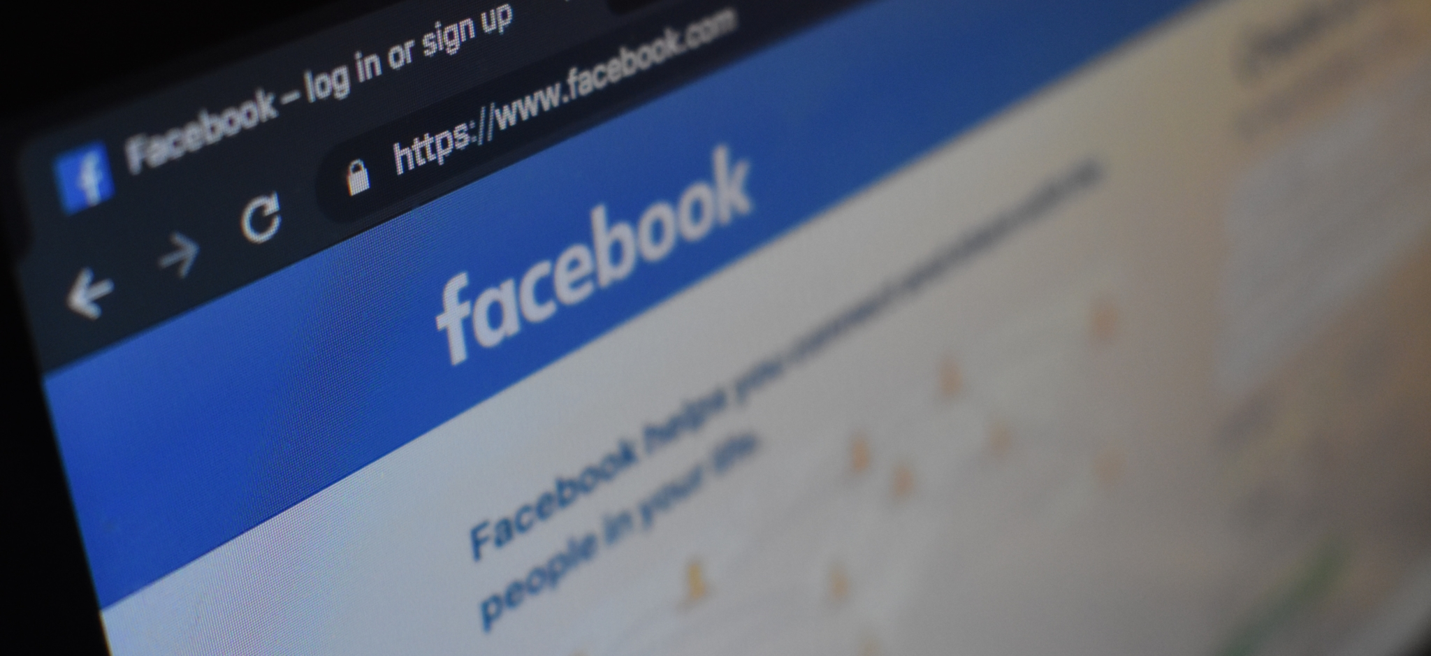 Facebook Website on Computer